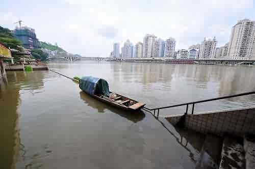 西江廣西梧州段水位再度突破警戒線