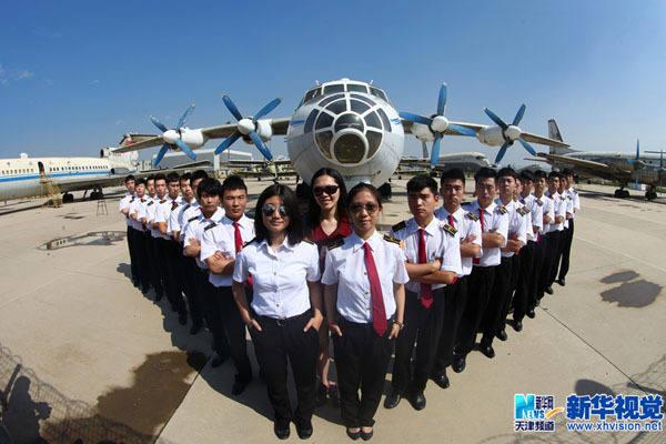 又一批美女飛行員將展翅騰飛