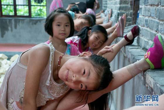 農村娃的暑期雜技學校