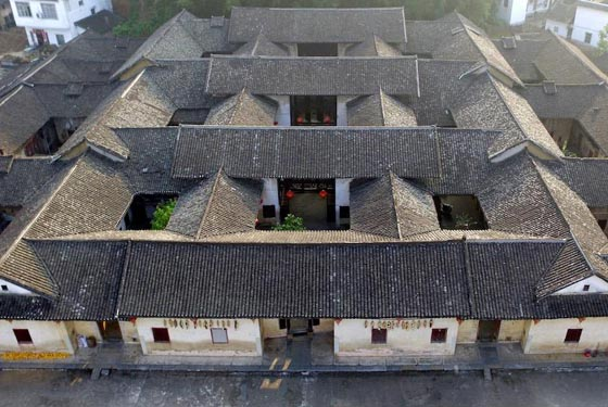 俯瞰客家围屋的建筑美学