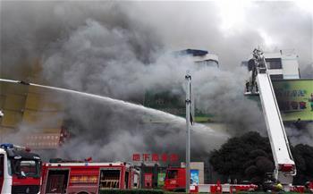 广西桂林市一家电脑城发生火灾