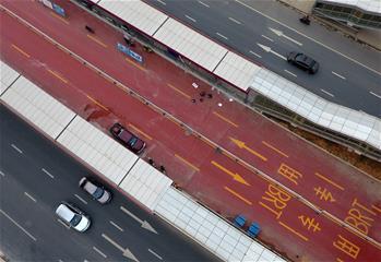 廣西南寧首條快速公交線路即將建成