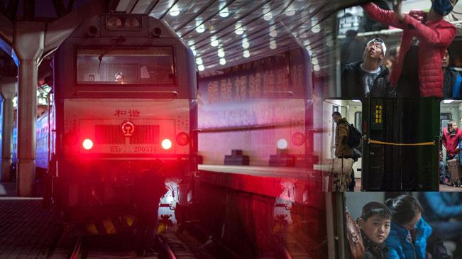 直擊2017春運首趟列車啟程