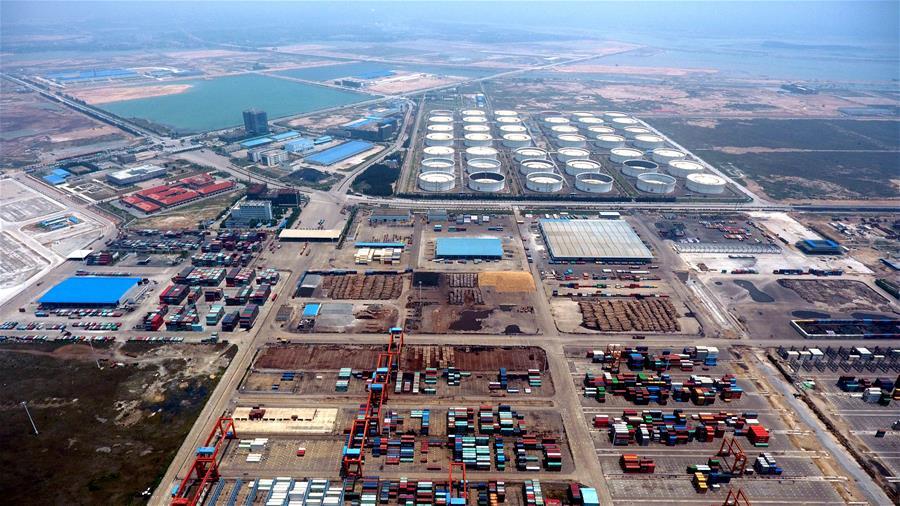俯瞰廣西欽州保稅港區