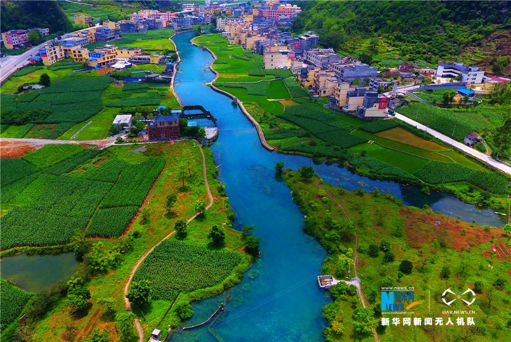 航拍瑤鄉母親河——廣西都安澄江河