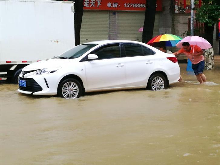 廣西忻城強降雨引發內澇