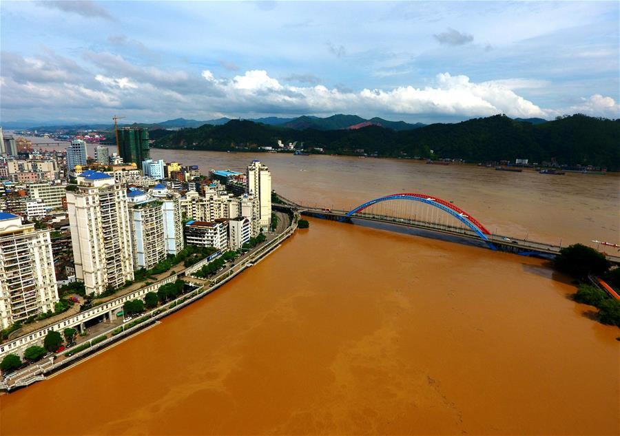 西江廣西梧州段迎來超警戒水位4.60米的洪峰