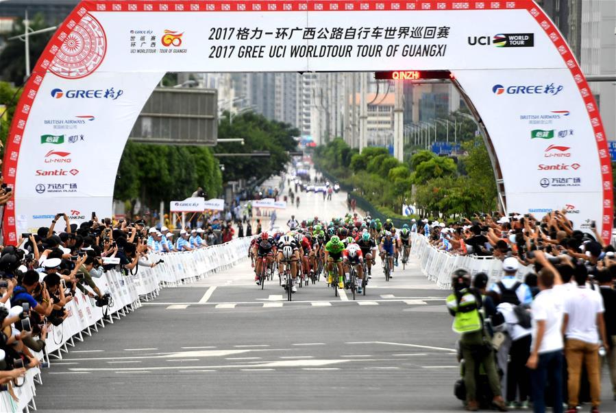 自行車——環廣西公路自行車世界巡回賽進入第二賽段