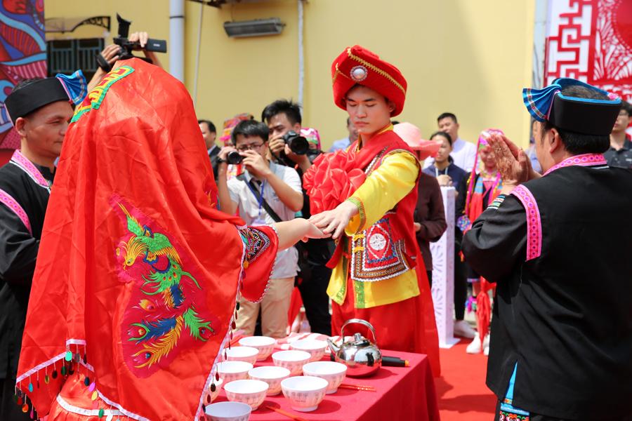 壯瑤聯姻嫁娶儀式舉行