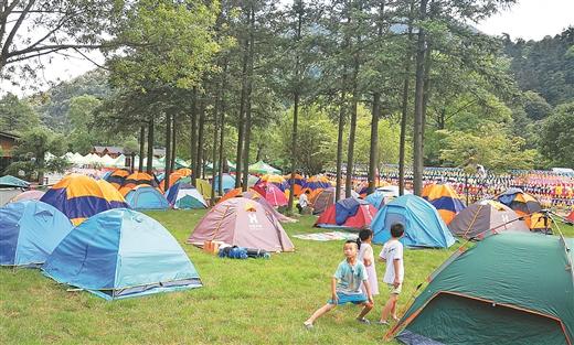 賀州市在姑婆山國家森林公園舉辦帳篷露營節