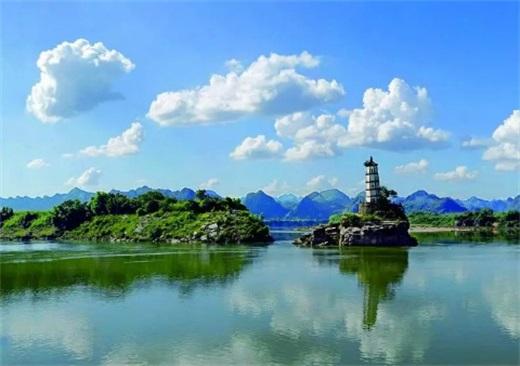 【魅力中國城——崇左名片】歸流中的左江斜塔