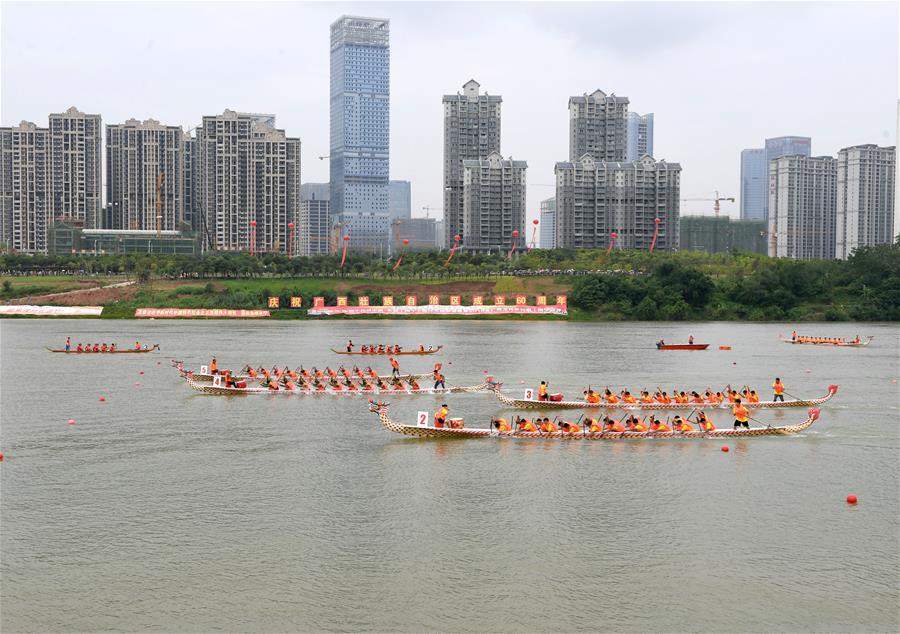 第十四届中国-东盟(南宁)国际龙舟邀请赛开赛