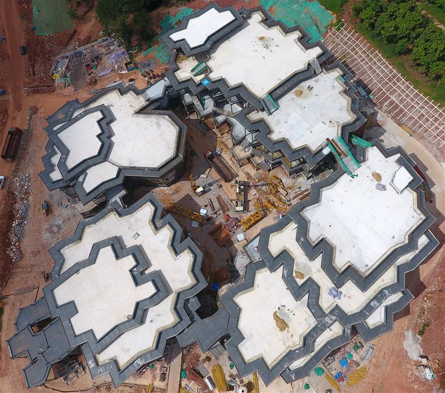 第十二届中国(南宁)国际园林博览会场馆建设进展顺利