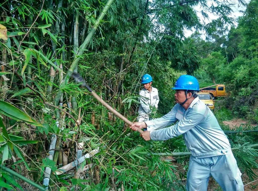 欽州靈山供電局嚴陣以待迎戰熱帶風暴