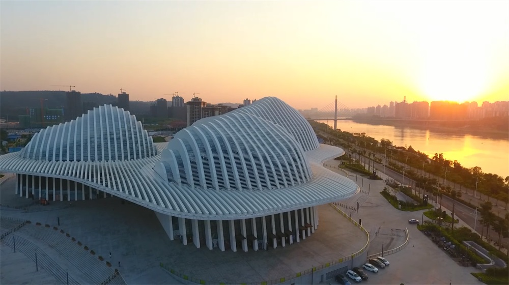 航拍視頻:廣西文化藝術中心