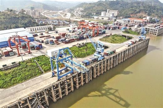 梧州市紫金村碼頭一期工程完工
