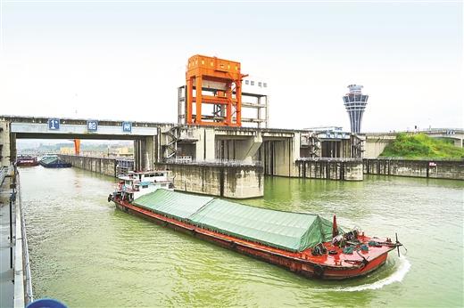 長洲船閘過貨量大幅增長