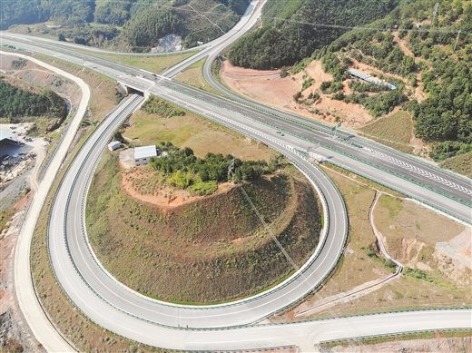 梧州環城高速公路項目3標段已完成主體建設