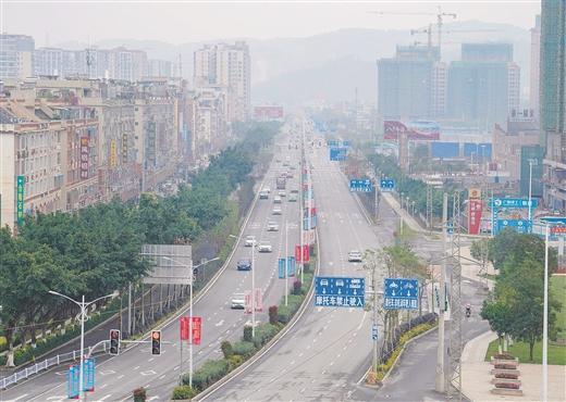 梧州市蒼海大道改造工程項目全線完工