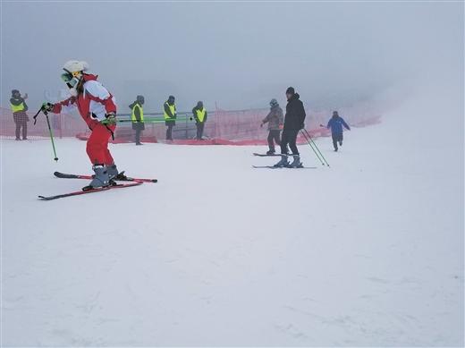 全州天湖滑雪場正式開業迎客