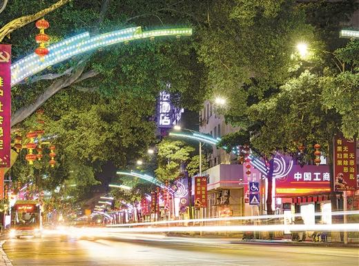 時光隧道亮化工程讓梧州夜色更迷人
