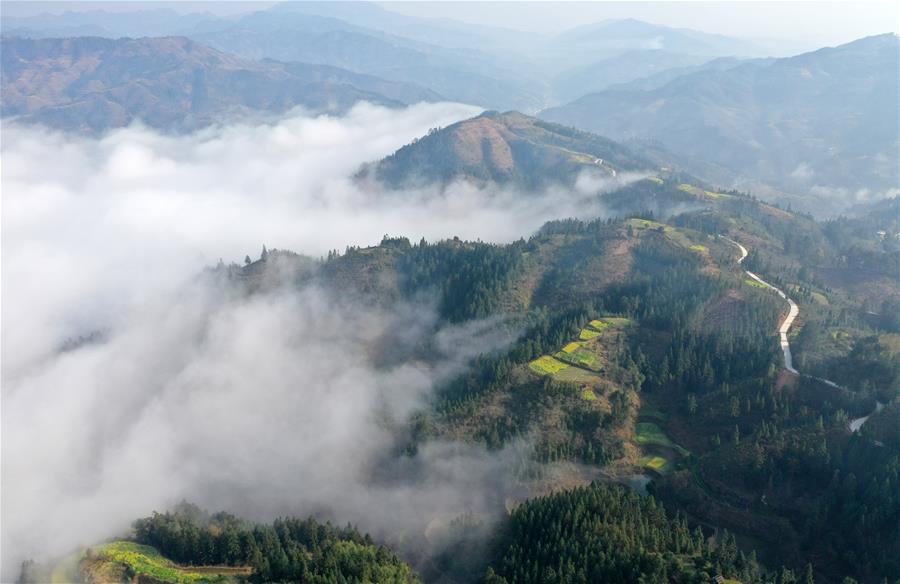 霧繞苗鄉美如畫