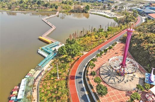 梧州市玫瑰湖公園開展提升改造工作