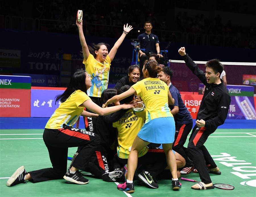 羽毛球——蘇迪曼杯四分之一決賽:泰國勝韓國