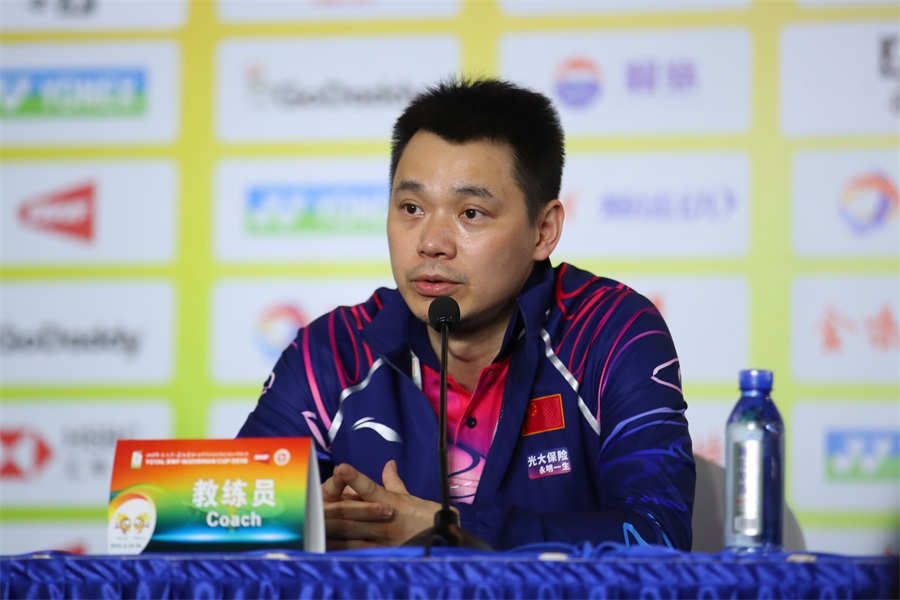 羽毛球——蘇迪曼杯半決賽:中國隊舉行新聞發布會