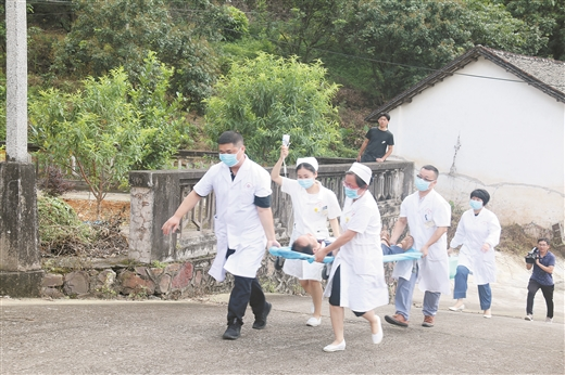 桂平市舉行山洪災害防禦應急演練