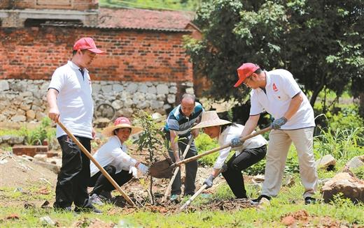 崇左市宣傳係統黨員幹部開展助力鄉村振興志願服務活動