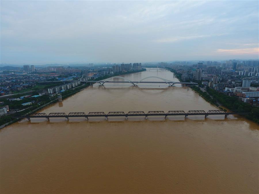 廣西柳州柳江出現超警戒水位