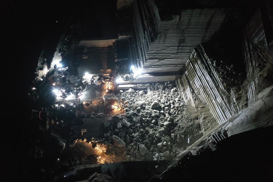廣西岑溪市一礦山發生塌方
