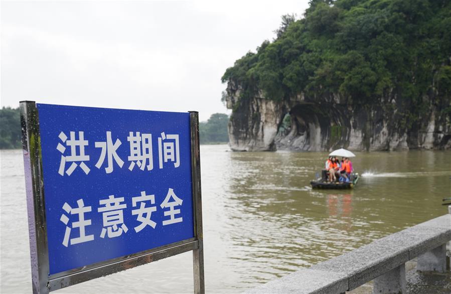 廣西桂林受洪水影響景區陸續開門迎客