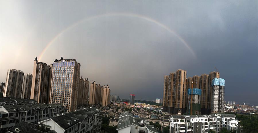 廣西南寧:雨後彩虹