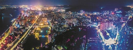 梧州市持續推進城市燈光亮化工程
