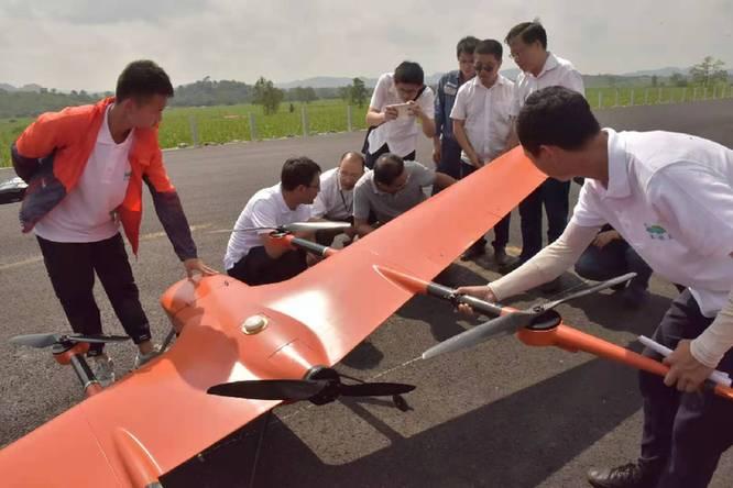 崇左供電局完成長航時無人機多機型聯合巡檢測試
