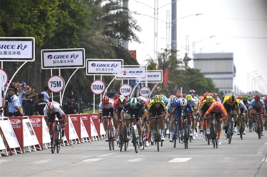 自行車——環廣西公路自行車世界巡回賽第一賽段賽況