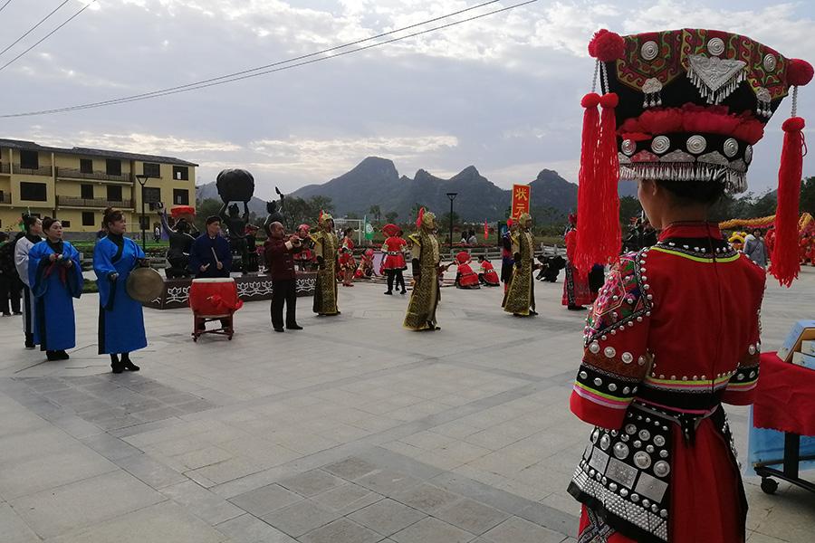 桂林蘆笛三村的表演隊