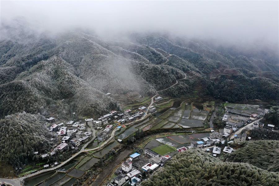 廣西:大苗山春節迎冰雪