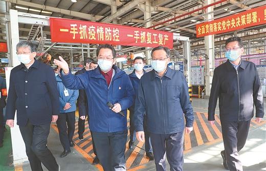 陳武在柳州調研指導新冠肺炎疫情防控和企業復工復産工作