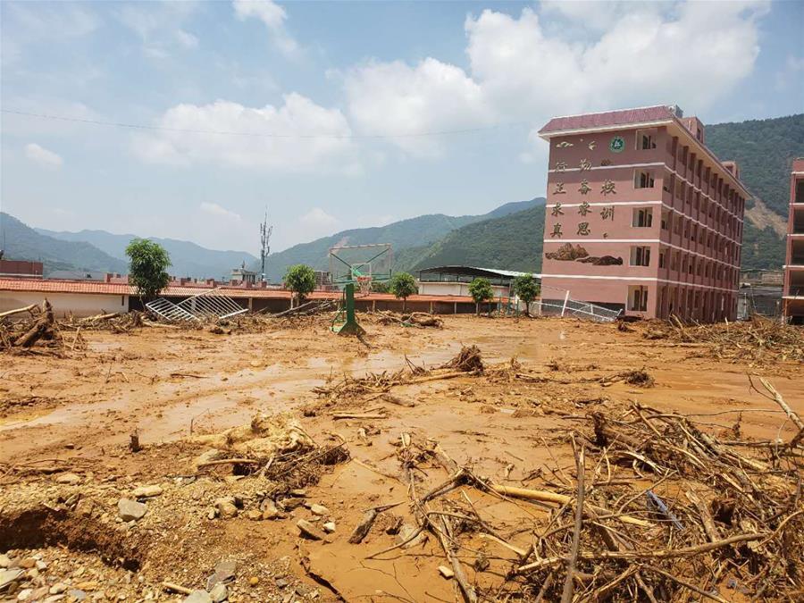 廣西田林:暴雨引發泥石流 400多人被緊急疏散
