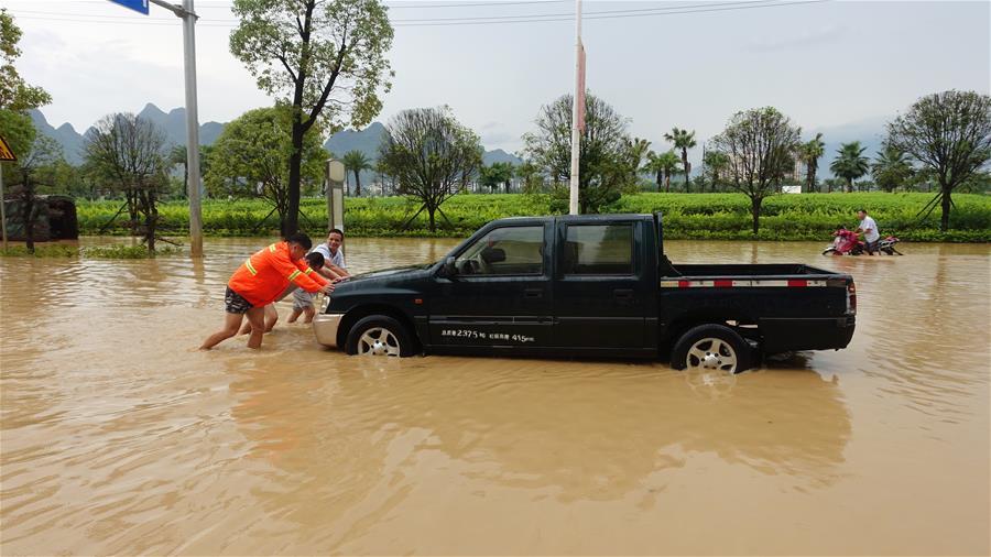 廣西賀州遭遇暴雨襲擊