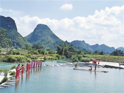 宜州三岔鎮合林九浪花景區成為遊客遊玩新去處