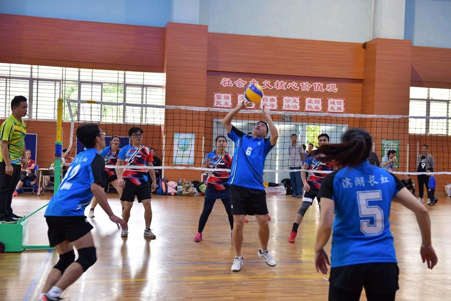 南寧市青秀區濱湖學區舉行2020年教職工氣排球比賽