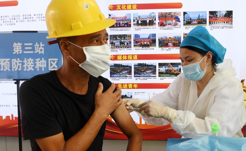 南寧:新冠疫苗接種進工地