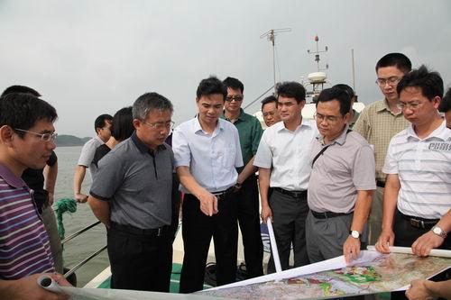 劉可總經理到金港、金城、濱海項目公司和欽州公司視察