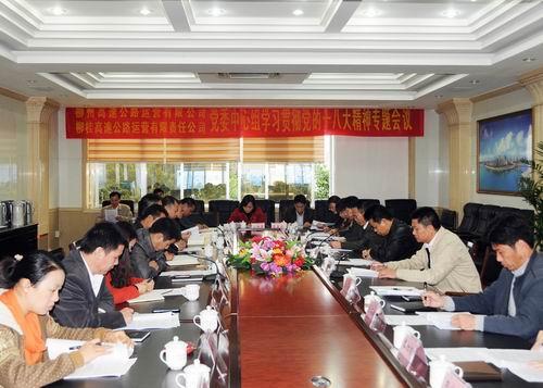柳州、柳桂運營公司組織黨的十八大精神專題學習